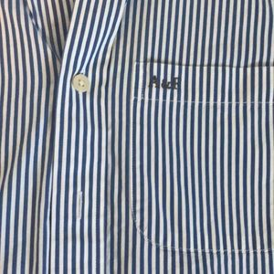 Abercrombie & Fitch Shirts - Abercrombie & Fitch Blue Striped Button Up